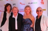 From Left:  Sharon Coles, HoF 2010 inductee Maria Topalovich, daughter Catherine Mortimer, composer Marvin Dolgay