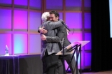 Gordon Pinsent presents Republic of Doyle's Allan Hawco with the Playback 2011 Outstanding Achievement Award