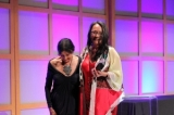 Alanis Obomsawin and 2011 Hall of Fame inductee Tantoo Cardinal