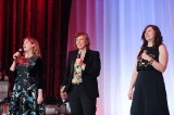 Awards hosts and Baroness von Sketch creators Jennifer Whalen, Carolyn Taylor and Aurora Browne.