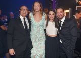 Pictured left to right: Canadian Academy chair, Martin Katz and Canadian swimmer Penelope Oleksiak with Tatiana Maslany and Jason Priestley