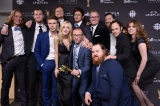 Team <em>Letterkenny</em> celebrates its Best Comedy Series win