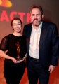 Molly Parker with David Sparrow, ACTRA National president