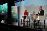 corus' barb williams with kevin maclellan speaking about nbcuniversal's hayu and the company's global plans at the banff world media festival.