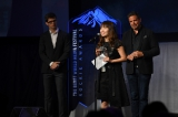 The team behind Hokuto: The Conversion of a Killer accept the Rockie Award for best drama series, non-English language.