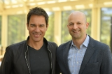 actor eric mccormack with netflix vp content acquisition larry tanz.