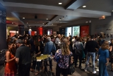attendees mingling at the cmpa 2018 indiescreen awards at the glenn gould studio.