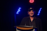 Filmmaker Michael Melski presenting the Screen Nova Scotia award for best short film.