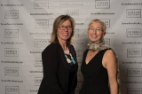 Shelley Bibby and Jennifer Stewart at the gala.