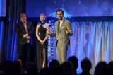 Bill Hader (Barry) accepting the Peter Ustinov Comedy Award at the 2019 Rockies Gala.