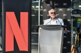 The CFC's Norman Jewison at the podium.