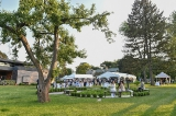 Guests mingling at the annual CFC garden party.