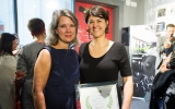 Telefilm Canada executive director Christa Dickenson and Established Producer Award winner Felize Frappier (Max Films Media)