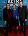 Billy Merasty, Tantoo Cardinal and ACTRA Toronto president David Sparrow. Photo credit: Jag Gundu