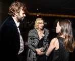 Rossif Sutherland, Sarah Gadon and Claudia Sutherland.