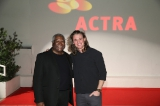 ACTRA National VP and UBCP/ACTRA president Alvin Sanders  and Dylan Playfair.