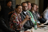 Tina Keeper moderates a roundtable discussion