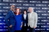 L to R: Cameron Bailey (Artistic Director & Co-Head, TIFF), Catherine Tait (President & CEO, CBC/Radio-Canada), Heather Conway (Executive Vice-President, English Services, CBC), Ivan Fecan (Executive Chair/Producer, Thunderbird Entertainment)