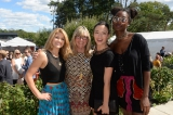 christina jennings (chair, board of directors, cfc, and ceo, shaftesbury) with 'carmilla' stars elise janae bauman and natasha negovanlis (far left and second from right), and 'murdoch mysteries' star mouna traor� (far right). photo: tom sandler photography