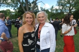 actor michelle holden with actra president ferne downey