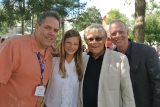actra toronto president david sparrow with actors peyton kennedy, art hindle and aidan devine