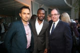 Damon D'Oliveira, Lyriq Bent and James Villeneuve, Consul General of Canada, Los Angeles.