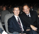 Michael Chan, Minister of Tourism, Culture and Sport & Slawko Klymkiw, CEO, CFC at Opening Night at the Bloor Hot Docs Cinema. Photo by Sonia Recchia.