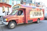 The WSFF Shorts Bus- a mobile movie theatre. Photo by Sonia Recchia