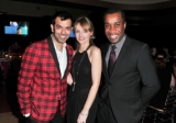 Zaib Shaikh, Kirstine Stewart and Clement Virgo at the CFC Gala
