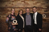 Victoria Lean, 2017 DOC Vanguard Award Recipient, Robin Mirsky, Executive Director, Rogers Group of Funds, Daniel Cross, 2017 Rogers-DOC Luminary Award Recipient, and Adam Shamoon, Director of DOC Institute