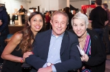 Karmen Lum, Whites' Chairman/CEO Paul Bronfman with Whites' Marketing Manager, Tracy Alves