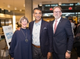 nini baird, minister amrik virk and knowledge network president and ceo rudy buttignol
