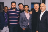 L to R: Lowell Hall, J. Jolly, Rodrigo Piza, Neil Chakravarti, Michael Hirsh, Bill Marks