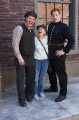actors rob verkest and nathan hoppe chat with a fan