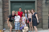 yannick bisson (det. william murdoch) poses with fans at at the murdoch mysteries fan event