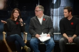 cbc's sarah adams, executive in charge of production, commissioned and scripted programming, murdoch mysteries panel host and tv critic bill brioux and yannick bisson