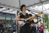 Musician Rebecca Everett, a graduate of the Slaight Family Music Lab, performing for attendees.