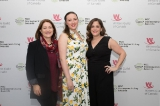 L to R: Jennifer Hollyer, Samantha Driscoll and Ilana Miller at the WGC 2018 Screenwriting Awards.
