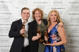 L to R: ACTRA award winners Bailey Maughan, Shelley Thompson and Kathryn MacLellan.