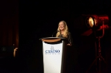 Donna Davies on stage at the Screen Nova Scotia's gala.