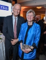 Rogers vice-chair Phil Lind with Phyllis Yaffe, former consul general of Canada in New York.