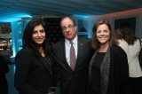 CFC Day in L.A. event host Roma Khanna with Consul General James Villeneuve and Kim Walker.