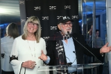 CFC's Award for Creative Excellence winner,  Christina Jennings with  CFC founder and chair emeritus Norman Jewison.