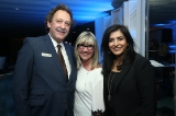 Slawko Klymkiw with CFC's 2018 Award for Creative Excellence recipient Christina Jennings and host Roma Khanna.