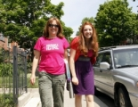 Showrunner and creator Jill Golick with Marlee Maslove (Hailey Skye); Little Italy