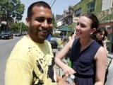 Nikhil D'Souza (Production Manager) and Jessica Panetta (Key Hair & Make-Up)