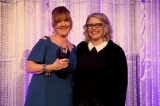 2019 creative excellence honouree, mary young leckie, with showrunner sherry white. image from kowthar omar.