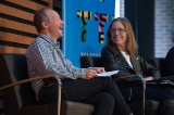 Randy Stein, partner, creative, at Grip Limited, and Amy Laski, president of Felicity PR