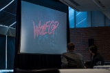 J Joly shows the Playback Marketing Summit audience a reel about his marketing plan for Wolfcop 2