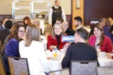 Delegates enjoying breakfast